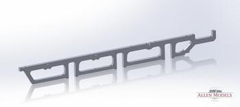 Fully machined waterjet frame rendering